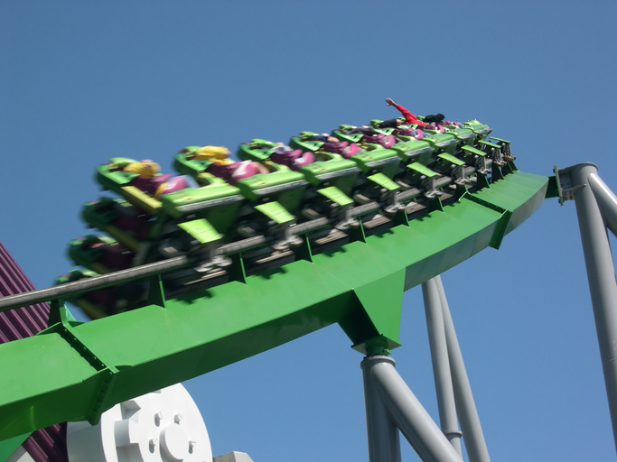 Theme park roller coaster in Florida